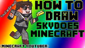 How To Draw SkyDoesMinecraft Minecraft Youtubers YouCanDrawIt ...