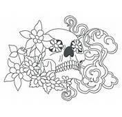 A3 Skull Stencil With Flowers  Art Pinterest