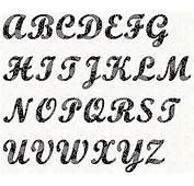 Alphabet Script 4 Inch Stencil By Linleys Designs  Craftsy