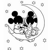 Mickey And Minnie Mouse Coloring Pages Show The Romantic Attitude Of