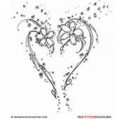Simple Black Tribal Heart Tattoo Design Ideal For The Lower Back