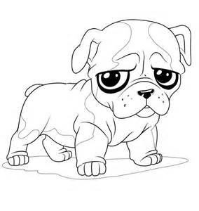 Pug Dog Coloring Pages - AZ Coloring Pages