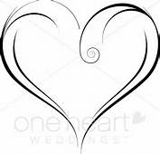 Two Hearts One Love Clipart Swirly Heart