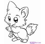 How To Draw A Cute Wolf Step By Forest Animals FREE
