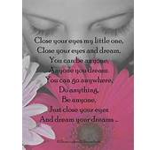 Dream Your Dreams  Inspirational Poem For Children/Dreamers The