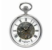 Royal Observatory Greenwich Skeleton Pocket Watch Chrome  RMG Shop