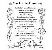 Bible Printables Lords Prayer Coloring Pages  The Text