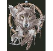 Dreamcatcher And Wolves Cross Stitch Pattern Free Shipping Southwest