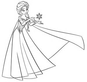 Il potere di Elsa - Frozen | Disegni da Colorare