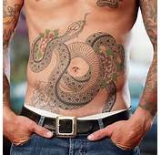 Snakes Tattoos Designs On Stomach