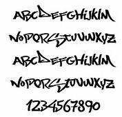 Graffiti Fonts And NumberA Z 2Letters Alphabet