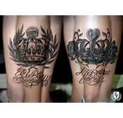 Rey Reina Calavera Laurel Rosa Tattoo Crown King Queen Skull Rose