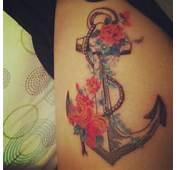 Rib Anchor Floral Color Tattoo  Tattoos Best Tats