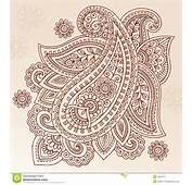 Henna Tattoo Flower Paisley Doodle Vector Design Royalty Free Stock