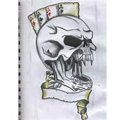 Scary Skull Drawings Tattoos