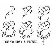 DARYL HOBSON ARTWORK How To Draw A Flower Step By