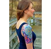 Colorful Shoulder Tattoo For Girls  Tattoos Clan