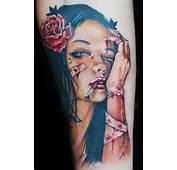 Viveros Pinup Girl Color Tattoo