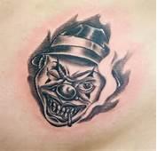 Tatuoinnit / Tattoos » Black &amp Gray Clown Tattoo