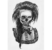 Drawing Illustration Creepy Pencil Skull Bow Sketch Dead Skeleton Evil