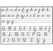 Cursive Handwritng Chart Lower &amp Upper