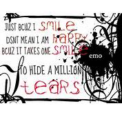 Smile And Tears Emo Quote  Free Desktop Wallpapers