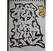 Old School Graffiti Alphabet Letters Tattoos
