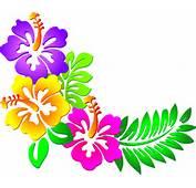 Hibiscus Corner Clip Art At Clkercom  Vector Online