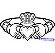How To Draw A Claddagh Ring Tattoo Step By St