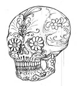 Sugar Skulls Coloring Pages Images & Pictures - Becuo