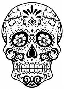 Sugar Skull Coloring Page - AZ Coloring Pages