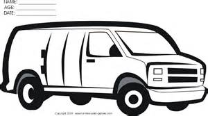white van colouring pages