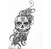 Tatouage Rose Tete De Mort  14/04/2016