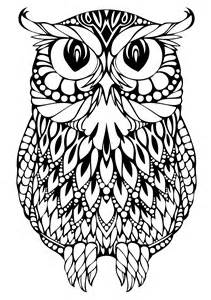 Owl Coloring Page Hard owl coloring pages
