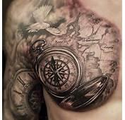Taube Karte Kompass Tattoo  Tattoovorlage