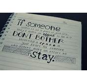 If Someone Wants To Be A Part Of Your Life They'll Make An Effort
