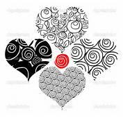 Tatuagem Flor De Corações  Imagem Stock