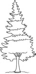 Pine Tree Coloring Page - Free Clip Art