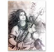 Sketch Shiva And Ganga Lord To Receive Falling From Heaven