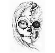 Candy Skull Tattoo Designs  Tattoos Pinterest