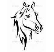 Black Horse Silhouette  Animals Characters