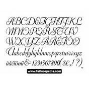 Tattoo Cursive Fonts  Tattoospedia