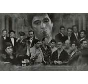 Gangsters Collage Godfather Goodfellas Scarface Sopranos Movie Poster