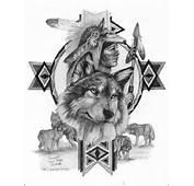 Tattoo  Tattoos Pinterest Wolf Native American