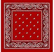 Red Paisley Bandanas  Dozen Packed 22x22