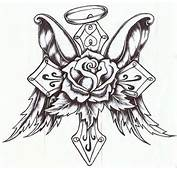Cross Rose With Wings By P Nuthouse On DeviantArt