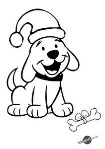 coloring pages christmas puppy Interior Design Decoration