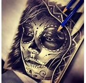 Sexy Sugar Skull Girl Tattoo  Drawing By Randy Engelhard