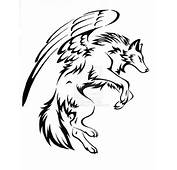 Courage Winged Wolf Tattoo By Captainmorwen Designs Interfaces