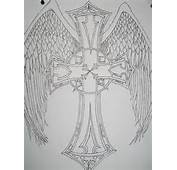 Celtic Cross With Angel Wings By XShadowRaidenX